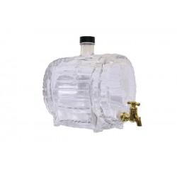 Beczułka szklana z kranem 1,5 l