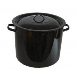 Garnek emaliowany 29 litrów z pokrywą