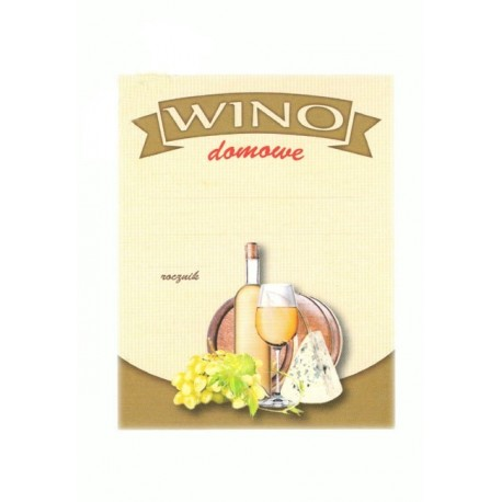 Etykiety na wino domowe - białe