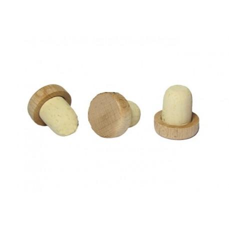Korek grzybek drewniany 19 mm