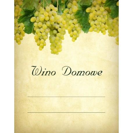 Etykiety na wino domowe czerwone - winogrono