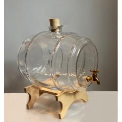 Beczułka szklana z kranem 3,8 l