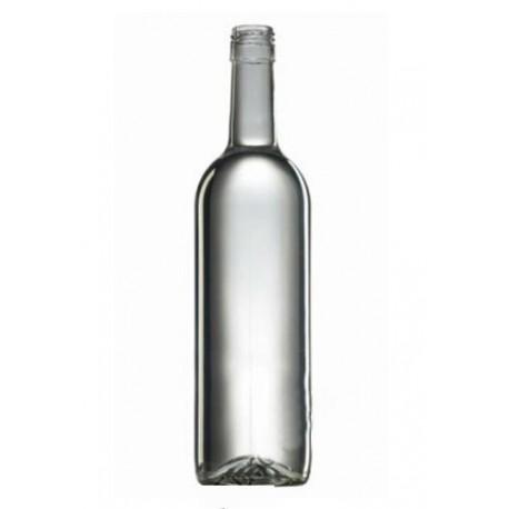 Butelka do wina 0.75l biała zakrętka