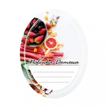 Etykieta owalna owocowy mix