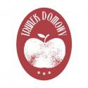 Etykieta owalna retro - jabłko