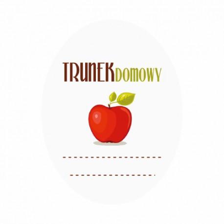 Etykieta owalna trunek domowy - jabłko
