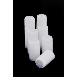 Kapturki termokurczliwe białe