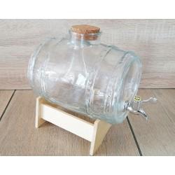 Beczułka szklana z kranem 3 l