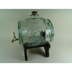 Beczułka szklana z kranem 2l